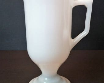 Milk Glass Irish Coffee 8 oz Mugs