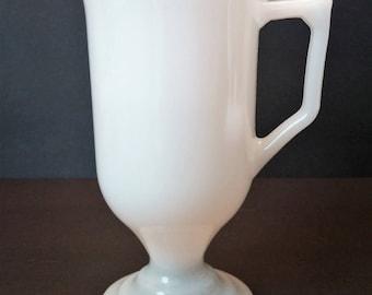 Milk Glass Irish Coffee 8 oz Mugs