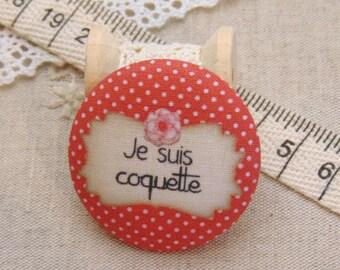 I am 1 28mm fabric button x flirtatious ref A7