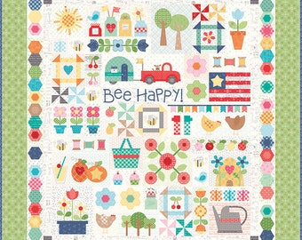 Bee Happy Backgrounds! - (25) FQs - Riley Blake - by Lori Holt - Quilt Along- C