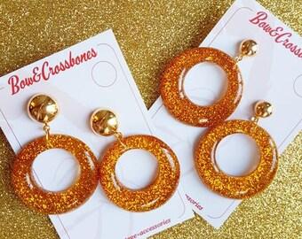 Amelia lucite confetti hoop earrings - Merigold