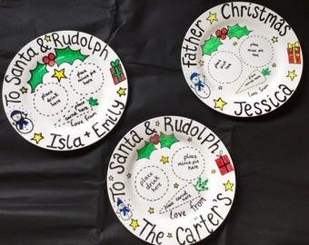Christmas Eve Plate. Christmas Plate. Family tradition. Personalised Plate. Christmas Eve. Santa Plate. Father Christmas Plate. Family name.