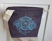 Sky Compass Drawstring Project Bag