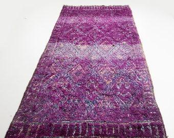 "9'2"" x 5'5"" Moroccan Rug - Beni mguild Rug - Wool Rug - Boho rug - Purple Area Rug"