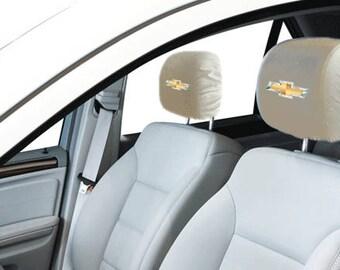 Chevrolet Car/SUV White Headrest Covers