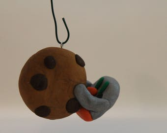 Penguin with Cookie Ornament -Polymer Clay-