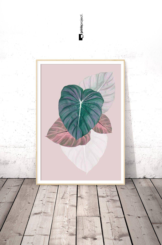 Art Décor: Leaf Printable Tropical Wall Art Tropical Decor Botanical
