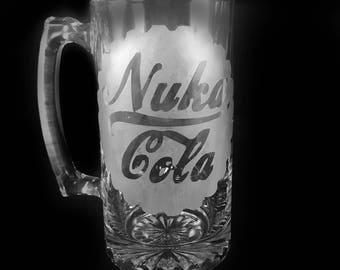 Nuka Cola fallout etched mug