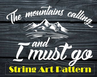 String Art Pattern Mountains String Art Template Mountains String Art Pattern Printable String Art Pattern Quotes String Art Template Quotes