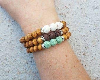 Diffuser bracelet, essential oil bracelet, beaded bracelet, bohemian jewelry, aromatherapy bracelet, boho bracelet, lava bead bracelet