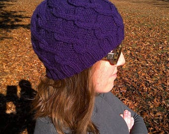 Traveling Cable Hat - Kid's winter hat kids cable