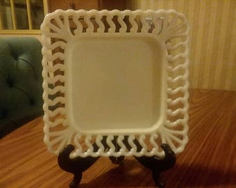 Westmoreland Milk Glass Plate