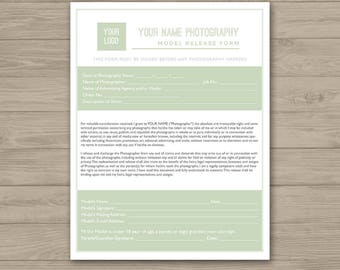 Photographer Model Release Form Template, Photography Forms, Business - Photoshop Template for Photographers - PSD *INSTANT DOWNLOAD*