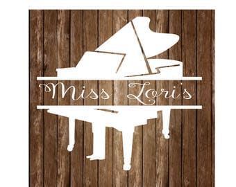 Piano split letter monogram  2 SVG   cut file  t-shirts scrapbook vinyl decal wood sign cricut cameo Commercial use