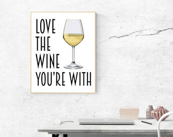 Wine Poster - Bar Prints - Wine Art - Bar Art - Bar Decor - Kitchen Art - Wine Gift - Wine Quote - Wine Decor - Wine Print - Kitchen Decor