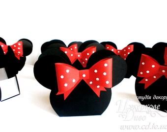 Set 2 Large Favor box Minnie Mouse-Paper box-Treat Boxes-Party Favor Boxes-Candy Box-Favor Containers-Treat Containers-Minni mouse birthday