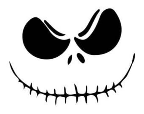 jack skellington face template - jack skellington svg silhouette cricut vinyl cutter