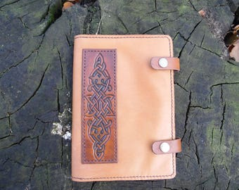 Leather notebook with Celtic ornament