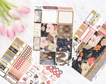 Rainy Days  Horizontal Weekly Mini Kit Planner Stickers for Erin Condren LifePlanners