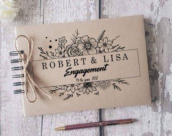 personalised wedding guestbook/ vintage/ rustic/ engagement album