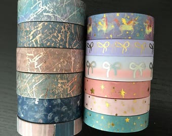"24"" SAMPLES of Simply Gilded foil washi tape (M205)"