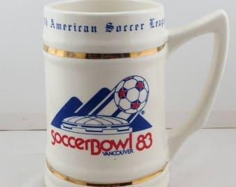 NASL Soccerbowl 1983 Beere Mug - Limited release # 724 of 1983 - Ceramic Mug