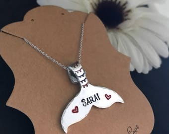 Personalized Mermaid tail necklace