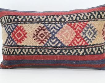 Bohemian Kilim Pillow Throw Pillow Sofa Pillow Naturei Kilim Pillow 12x20 Turkish Kilim Pillow Ethnic  Pillow Throw Pillow  SP3050-1023