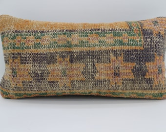 12x24 Kilim Pillows Turkish Decorative Pillow Floral Pillow Boho Pillow 12x24 Orange Pillow Home Decor Blue Pillow Green Pillow SP3060-1647