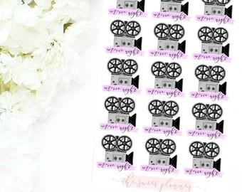 MOVIE NIGHT   Icon Deco Sticker Sheet
