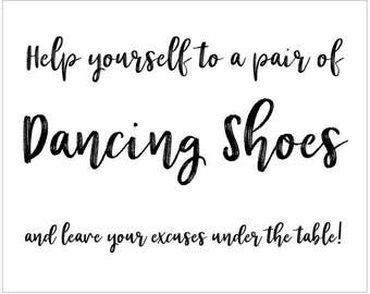 Digital Signs - 8 x 10 Dancing Shoes