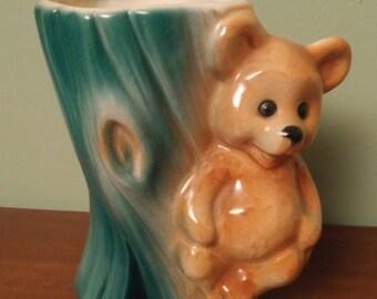 Vintage Teddy Bear planter
