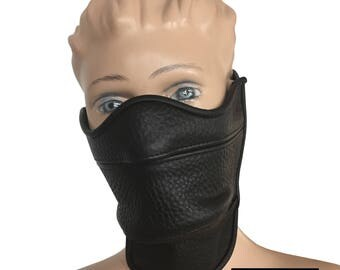 Leather Mask Half Face
