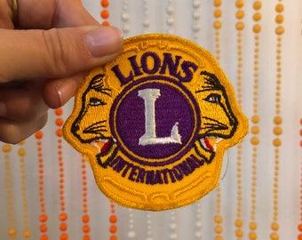 Lions International Patch