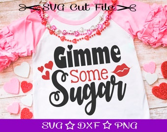Valentine SVG, First Valentine SVG File, SVG Cut File for Silhouette Cameo, Cupid svg, Love svg, Kids Valentine svg, Gimme Some Sugar svg