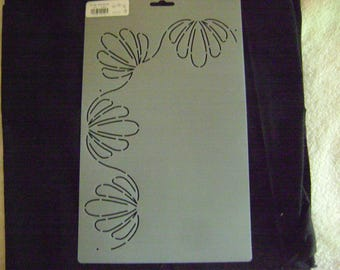 Sashiko Japanese or Traditional Quilting Stencil 2.5 in. by 11 in. Shell Border