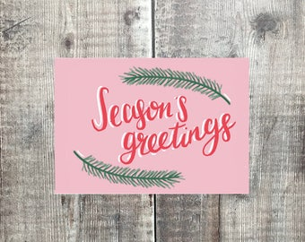 Seasons Greetings Card - Christmas Card - Happy Christmas - Card set - Holidays card - Celebrate christmas - Greeting cards