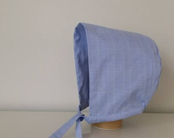 Baby and kid's cap in cotton Prince of Wales summer