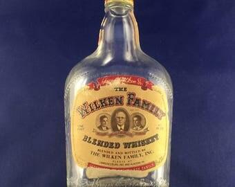 Vintage Wilkes Family Whiskey Bottle