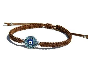 Evil eye bracelet for men Macrame evil eye bracelet Men's evil eye bracelet Evil eye cord bracelet Valentine's day gift