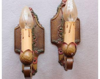 A8365 1920's Candle Wall Sconces