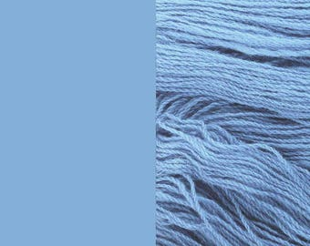 Wool Yarn, light blue, DK, 3-ply worsted knitting yarn 8/3 100g/130m