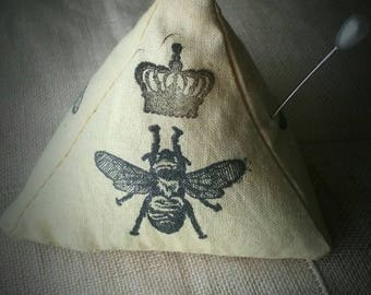Queen Bee Pincushion/Pattern Weight With Sand Filling