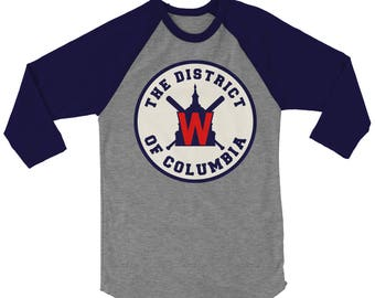 Washington DC 'Heritage' Baseball 3/4 shirt