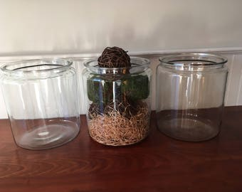 vintage large glass jar wide mouth jar restoration hardware display jars 2 12 gallon - Large Glass Jars