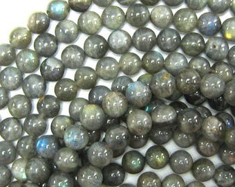"9mm grey labradorite round beads 16"" strand 33861"