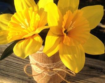 Daffodil Flower Pens set of 6