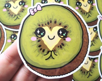 CUTE KIWI HEART sticker   Vinyl Die Cut Sticker