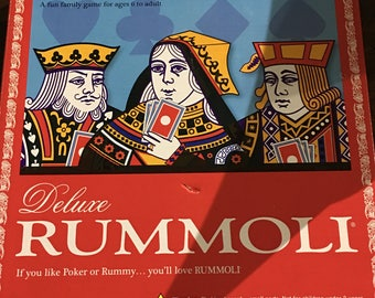 Vintage Deluxe Rummoli with Red chips