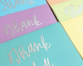 Hand lettered Thank You cards   embossed   calligraphy   modern calligraphy   typography